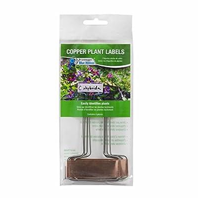 "Gardener's Blue Ribbon T026B Copper Plant Labels (4 Pack), 6"""