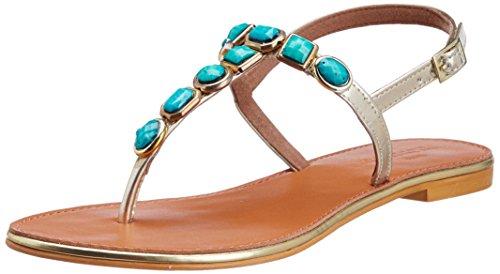 Sahiba The Trunk Label Women's The Sahiba Flat Turquoise Fashion Sandals