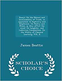 james beattie essays on poetry and music