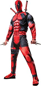 Rubie's Costume Men's Marvel Universe Classic Fiber-Filled Muscle Chest Deadpool Costume, Multi-Colored, X-Large