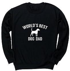 HippoWarehouse Worlds best dog dad kids unisex jumper sweatshirt pullover