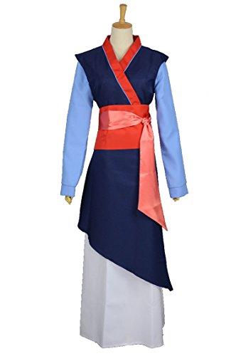 RedstarCosplayPrincess Hua Mulan Coslay Costume Blue Dress - Female L (Mulan Blue Dress)