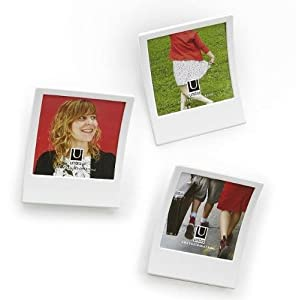 SNAP polaroid inspired white frame set of 2 by Umbra - 3.5x3.5
