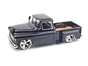 1955 Chevy Stepside Pickup Truck 1/24 - Black