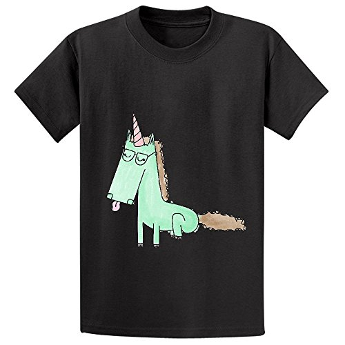 Chas Mintunicorn Boys' Crew Neck Customized T Shirts Black (Alex And Ani Chicken compare prices)