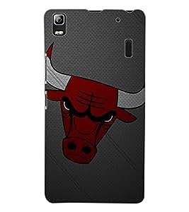 ColourCraft Bull Art Design Back Case Cover for LENOVO K3 NOTE