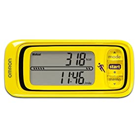 Omron HJA-301 Pace and Distance Tracker, Yellow