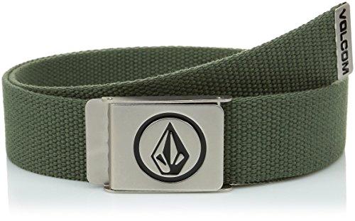 Volcom - CIRCLE WEB BELT, Cintura da uomo, verde (green), unica (Taglia produttore: unica)
