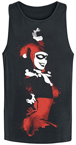 Harley Quinn Spray Paint Top donna nero S