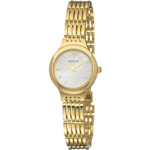 Accurist GD1674 Ladies Diamond Set 9ct Gold watch