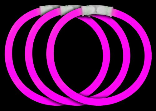 Fun Central P72 8 Inch Glow Stick Bracelets Pink Glowsticks - 50 Count