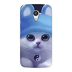 Premium Tie Chi Cat Multicolor Back Case Cover for Moto G 2nd Gen
