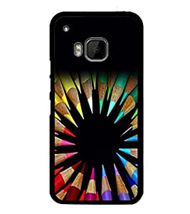 Colourful Pencils 2D Hard Polycarbonate Designer Back Case Cover for HTC One M9 :: HTC One M9S :: HTC M9 :: HTC One Hima