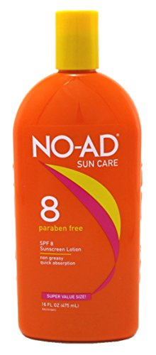 No-Ad Spf#08 Tanning Lotion 16oz
