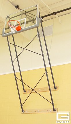 109 132 Extension Wall Braced Stationary Basketball