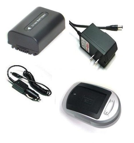 Compatible Accessory Kit High Capacity Rechargeable Lithium ion Battery and AC/DC Battery Charger ( Power plug & Car ) for / fits digital camera/camcorder model/parts no PREMIER TRAVELER DC 8300 DC8300