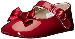 Baby Deer Patent Sm with Bow Mary Jane (Infant), Red, 0 M US Infant