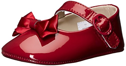 Baby Deer Patent Sm with Bow Mary Jane (Infant), Red, 2 M US Infant