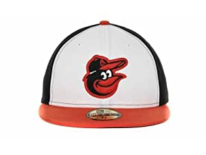 NewEra MLB Authentic Baltimore Orioles Team On Field 2Tone 59fifty Cap New Era 7 3/8