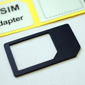 SIMアダプター Micro SIM Adaptor MicroSIM→SIMカード変換アダプタ(黒)