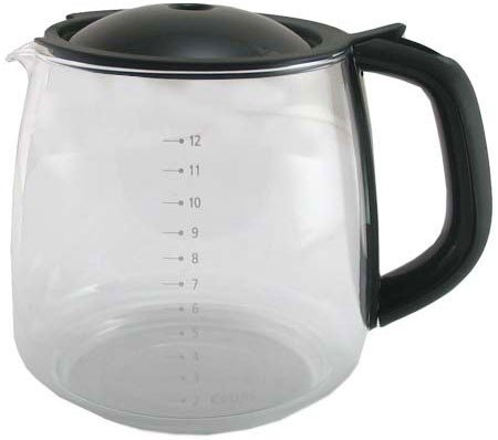 Krups F15BOG Replacement Glass 12 Cup Carafe Black.