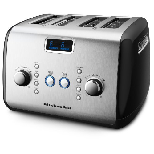 KitchenAid KMT423OB 4-Slice Toaster, Onyx Black