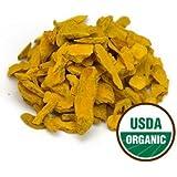 Starwest Botanicals Organic Turmeric Rhizome Sliced (Sulfite-Free), 1 Pound
