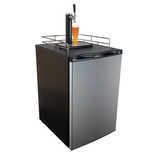 Best Review Of Keggermeister KM2800SS Kegerator Full-Size Single-Tap Beer Refrigerator and Dispenser...