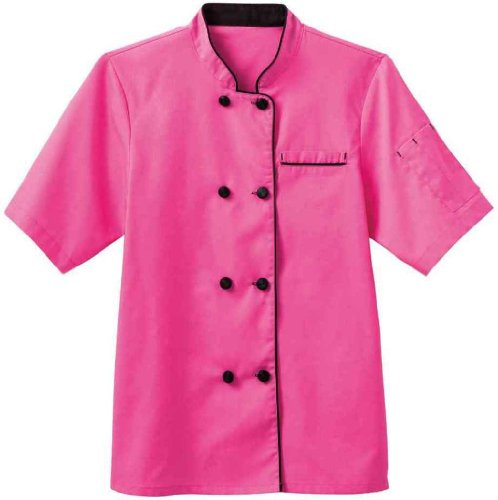 White Swan Short Sleeve Ladies Short Sleeve Executive Coat (Shocking Pink, 2X)