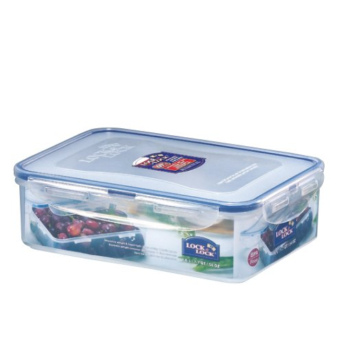 Lock & Lock Rectangular Food Container, Short, 6.6-Cup, 54-Fluid Ounces