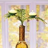 Decobreeze Home Holiday Decoration Capiz Shell Candelabra Bottle Topper-Tropical Fern