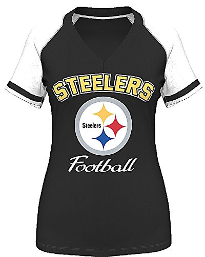 Pittsburgh Steelers Womens Go For It 4 V Neck Shirt by VF at Steeler Mania