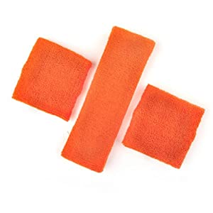 Buy GOGO Thick Solid Color Sweatband Set (1 Headband + 2 Wristbands) by GOGO