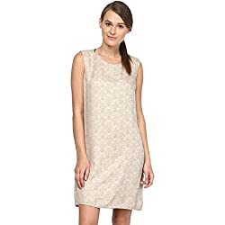 Annapoliss Women's Dresses (ANWDR05_Beige_Small)