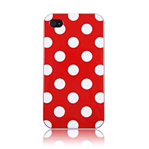 HM Red Polka Dot Flex Gel Case for Iphone 4 & 4S