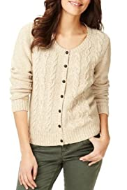 Indigo Collection Pure Cotton Cable Knit Cardigan [T66-2144-S]