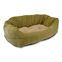 Precision Pet Tailored Daydreamer Bed, 26 by 22 by 10-Inch, Chenille, Coffee Liqueur
