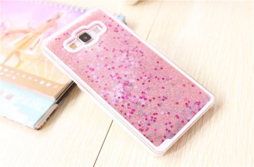 ACCWORLD Luxury 3D Glitter Waterfall Back Cover Case For Samsung Galaxy J7 (PINK )