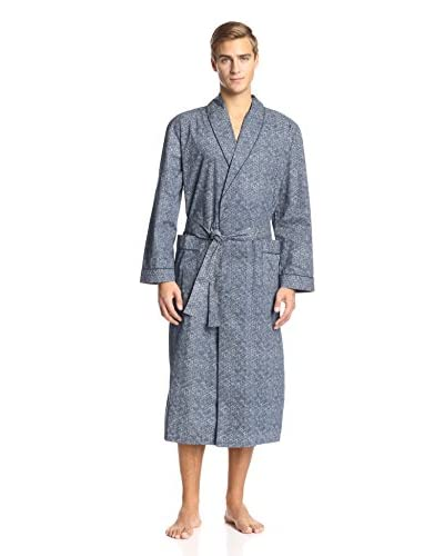 Ike Behar Men's Dotted Shawl Collar Robe