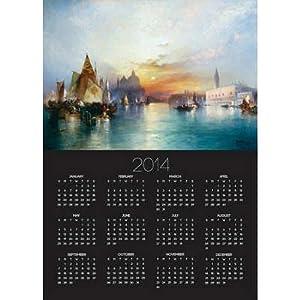 (12x17) Thomas Moran Venice 2014 Poster Calendar