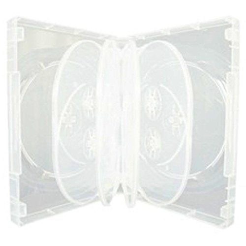 dvd-cd-case-box-standard-clear-set-of-5-for-ten-discs-by-dragontradingr