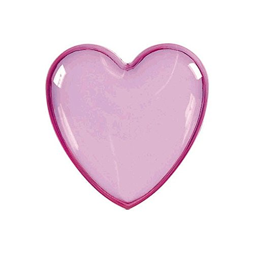"Amscan Pretty Heart-Shaped Plastic Party Favor Container, 3"", Pink"