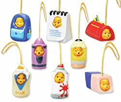 Winnie the Pooh Capsule Toys Set of 8 -Back to School