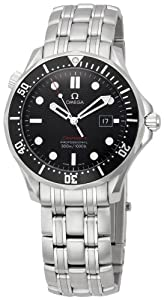 Omega Men's 212.30.41.61.01.001 Seamaster Black Dial Watch
