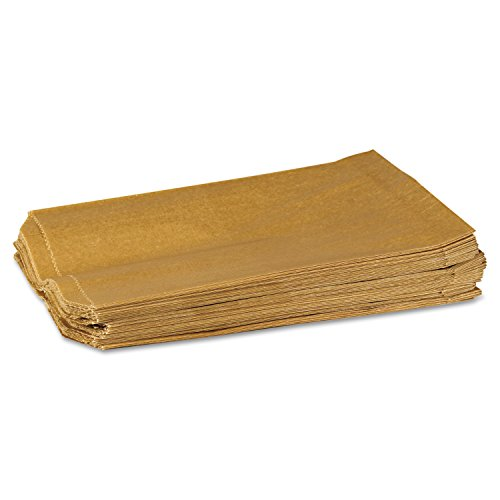 Hospeco KL Waxed Kraft Feminine Hygiene Liner Bag with Gusset (Case of 500), 10.25″ x 7.5″ x 3.5″