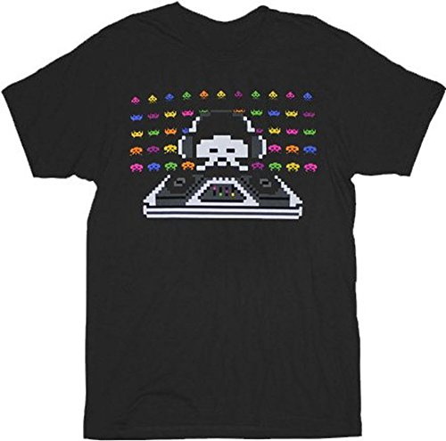 Adults Funny Space Invader Cosmic DJ T-shirt - Licesnsed - S to XXL