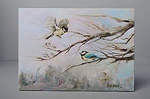 Amazon.com: Winter Landscape Titmice: Oil Paintings
