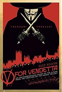 Amazon.com: V for Vendetta Poster Mask I am Free (23
