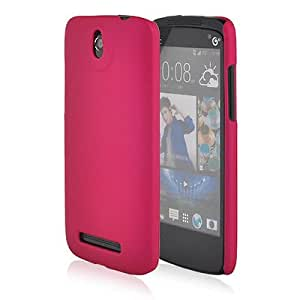 Casesia Hard Back Case Cover Pouch For HTC Desire 501-hot pink