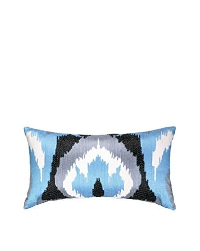 Nanette Lepore Villa Ikat Embroidered Pillow, Blue